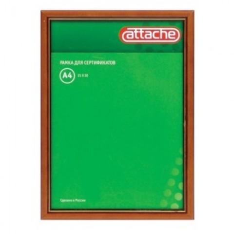 Рамка Attache А4 21x30 см деревянный багет 17 мм коньяк