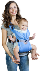 Чудо-Чадо. Рюкзак-кенгуру BabyActive Simple, голубой вид 1