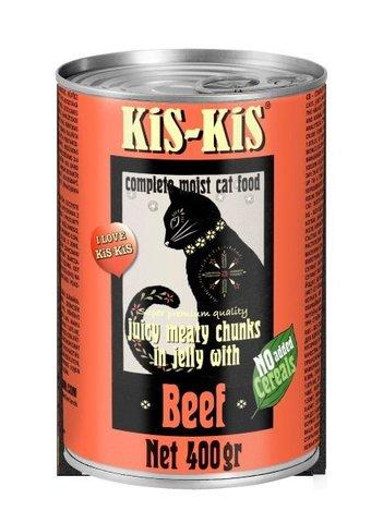 KiS-KiS Canned Food Beef Консервы для кошек с говядиной 400 гр.