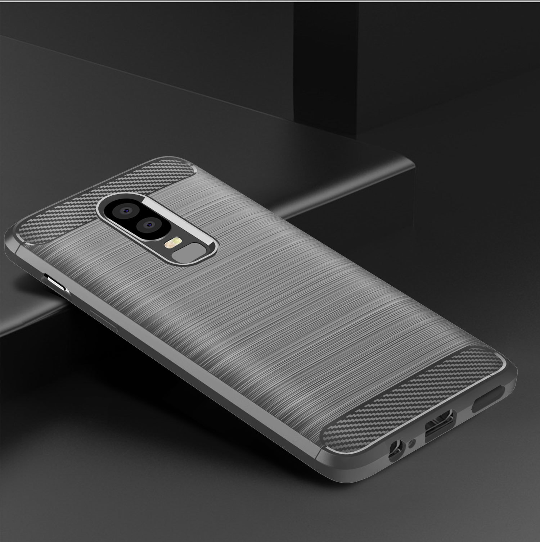 Чехол OnePlus 6 цвет Gray (серый), серия Carbon, Caseport