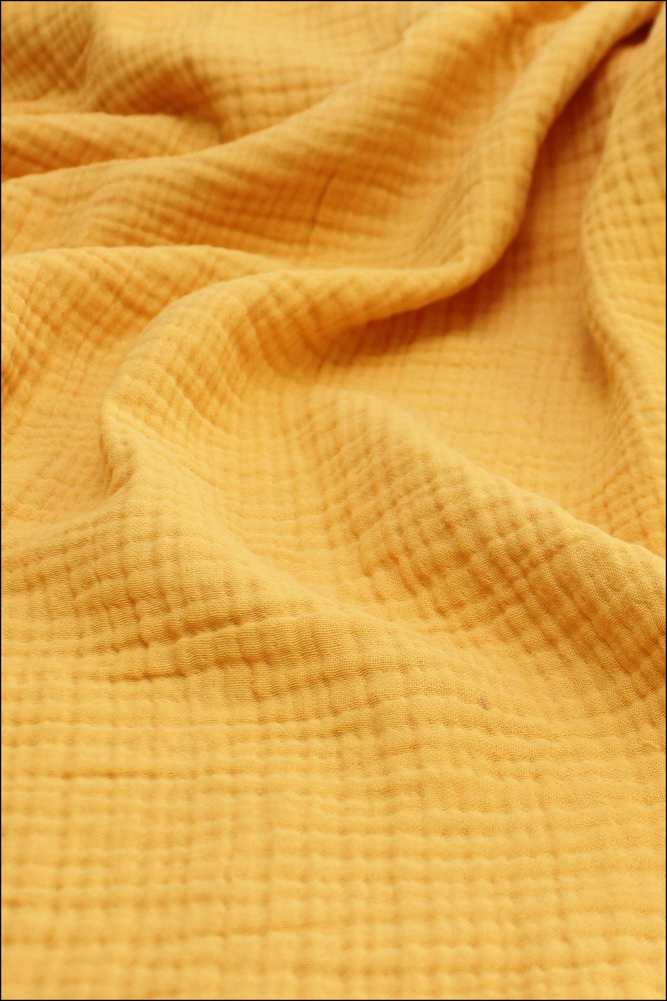 Ткань муслиновая, 4 слоя, Лимонный сорбет, ширина 240см