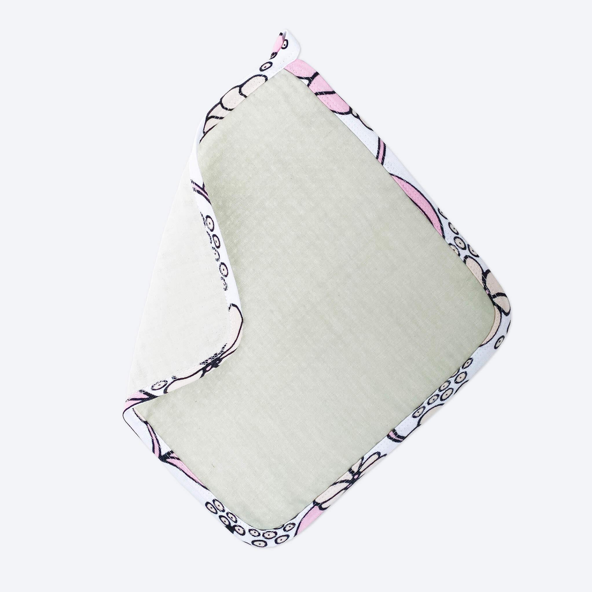 Комплект: Муслиновое полотенце с уголком и салфетка Mjölk Пудра