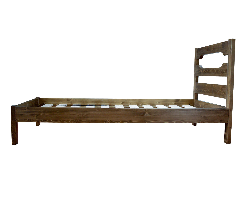 Кровать из массива сосны, спальное место 90х200 см