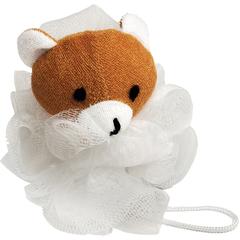 Мочалка для душа «Бант», с игрушкой (зайка, мишка)