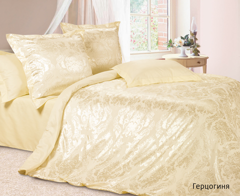 Жаккардовое постельное бельё 2 спальное, Герцогиня