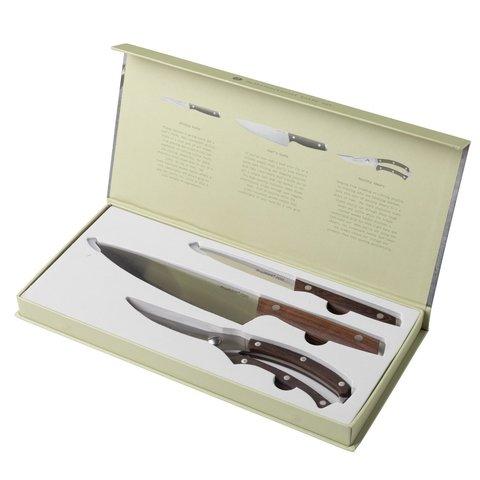 3пр Набор ножей с деревянной ручкой Ron