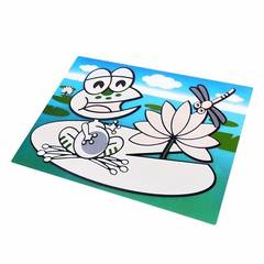 670 FISSMAN Коврик многоразовый для рисования водой ЛЯГУШОНОК 29x21см (пластик)
