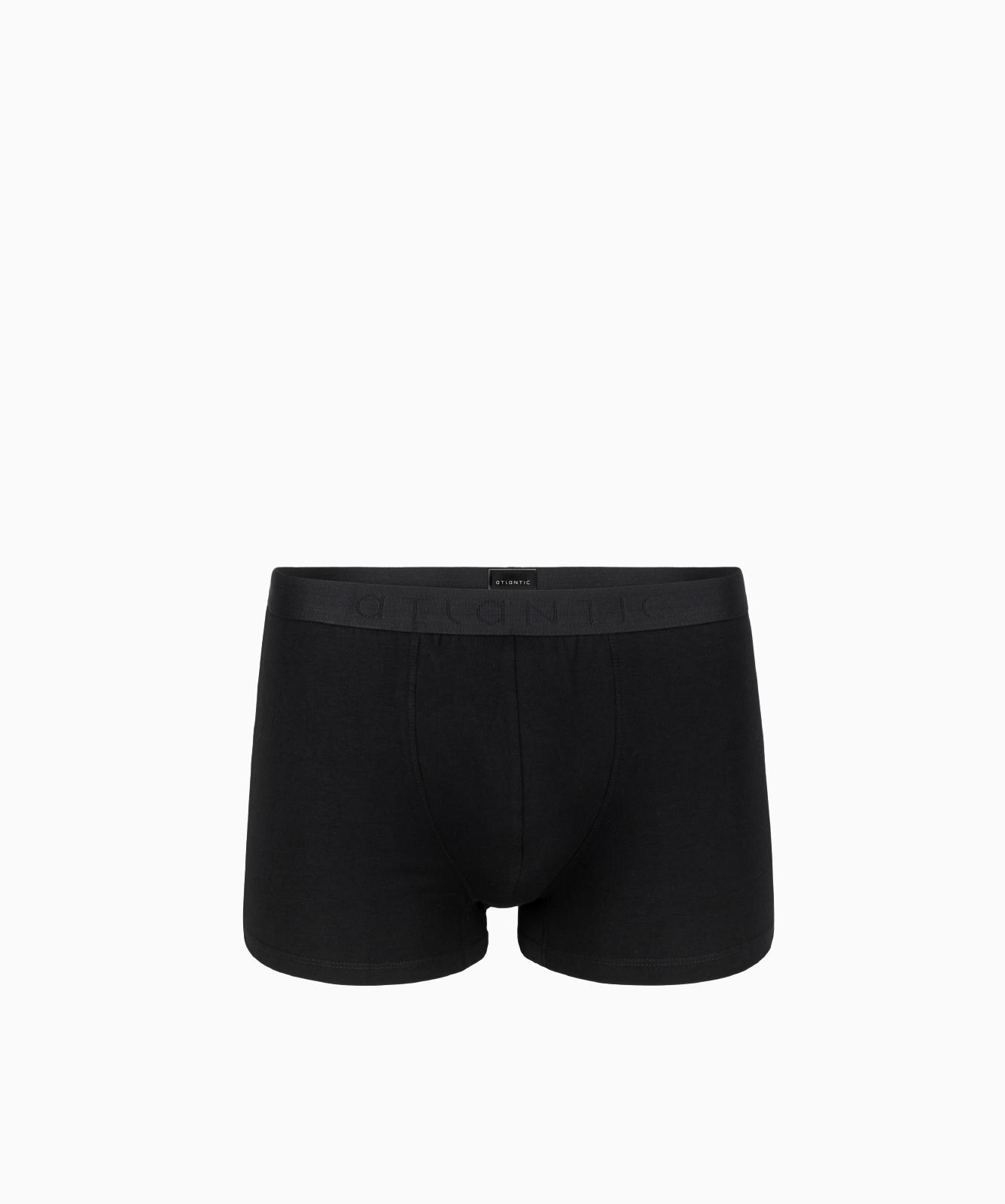 Мужские трусы шорты Atlantic, 1 шт. в уп., хлопок, черные, Basic BMH-018