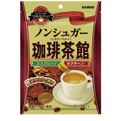Карамель без сахара Kanro Tea House со вкусом кофе 72 гр