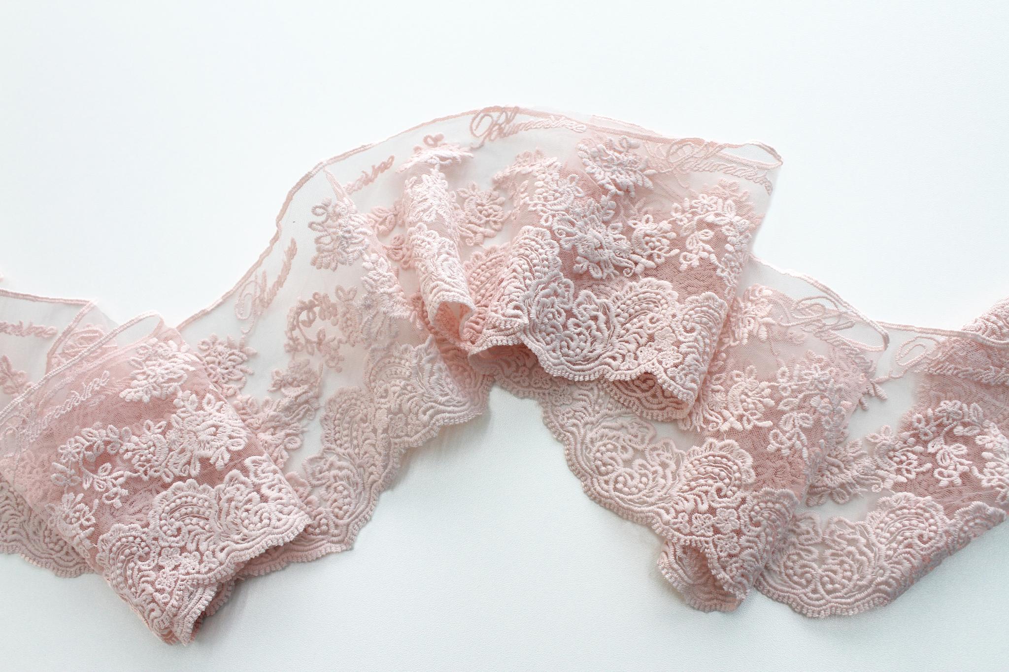Кружево Blumarine(розовый),13 см