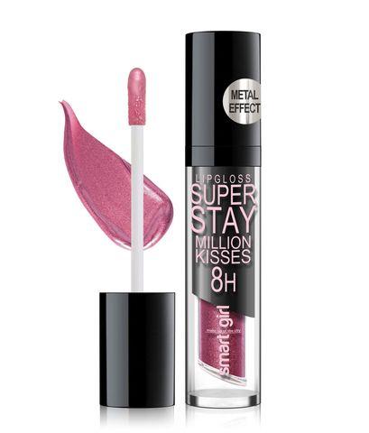 Супер стойкий блеск для губ Smart girl Million kisses тон 216 с металлическим эффектом