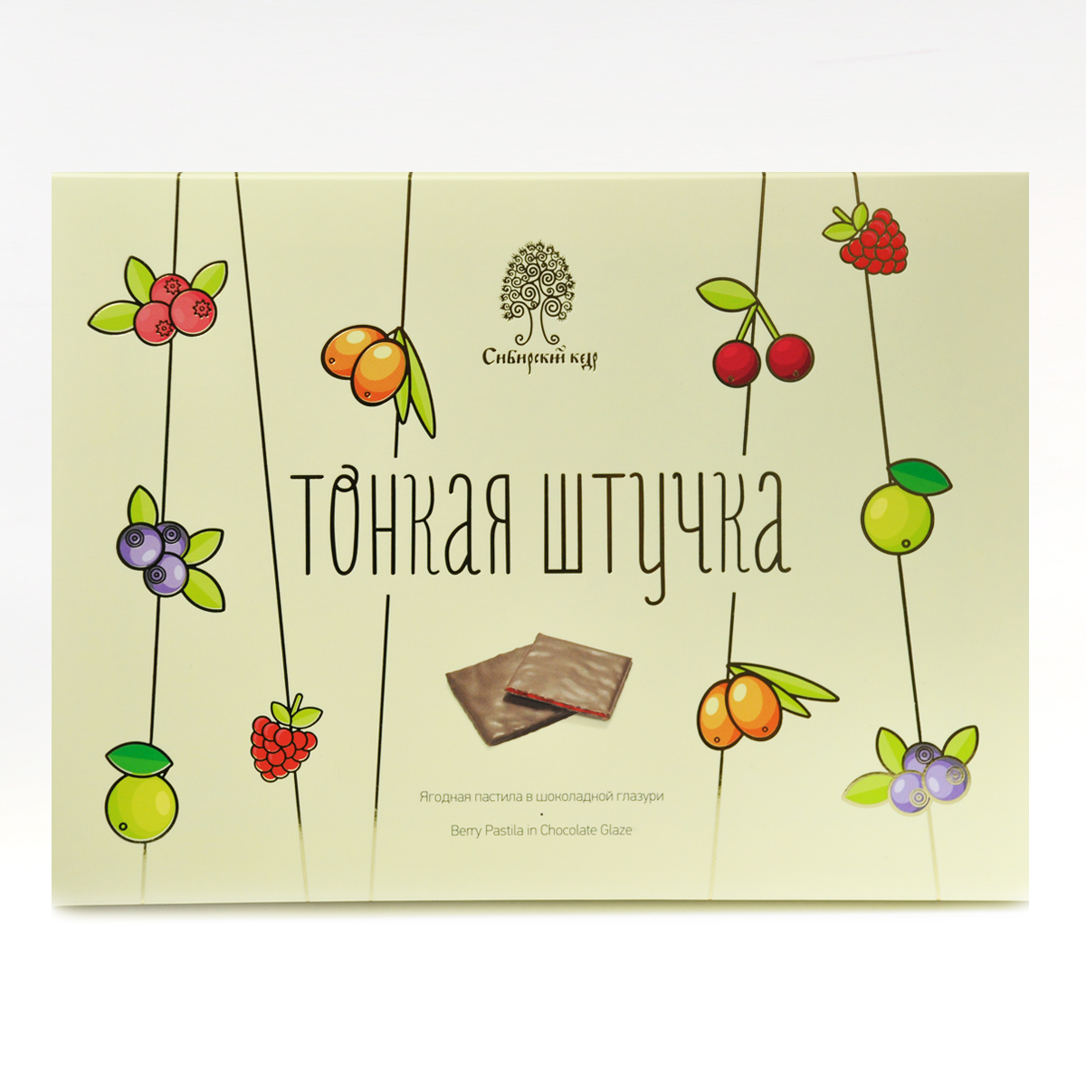 Пастила в шоколадной глазури «Тонкая штучка» Сибирский Кедр 120 гр