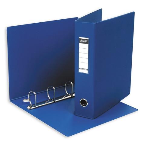 Папка на 4-х кольцах Bantex 60 мм синяя до 350 листов