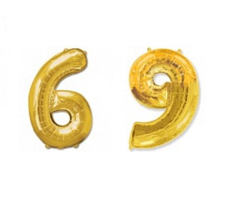 Цифра шесть/девять - золото