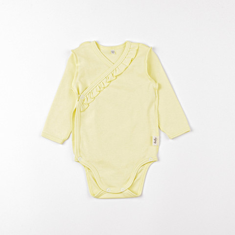 Long-sleeved bodysuit with ruffles 0+, Daffodil