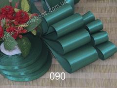 Лента атласная однотонная зеленая - 090.