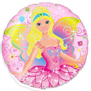 Фольгированный шар Фея розовая 18