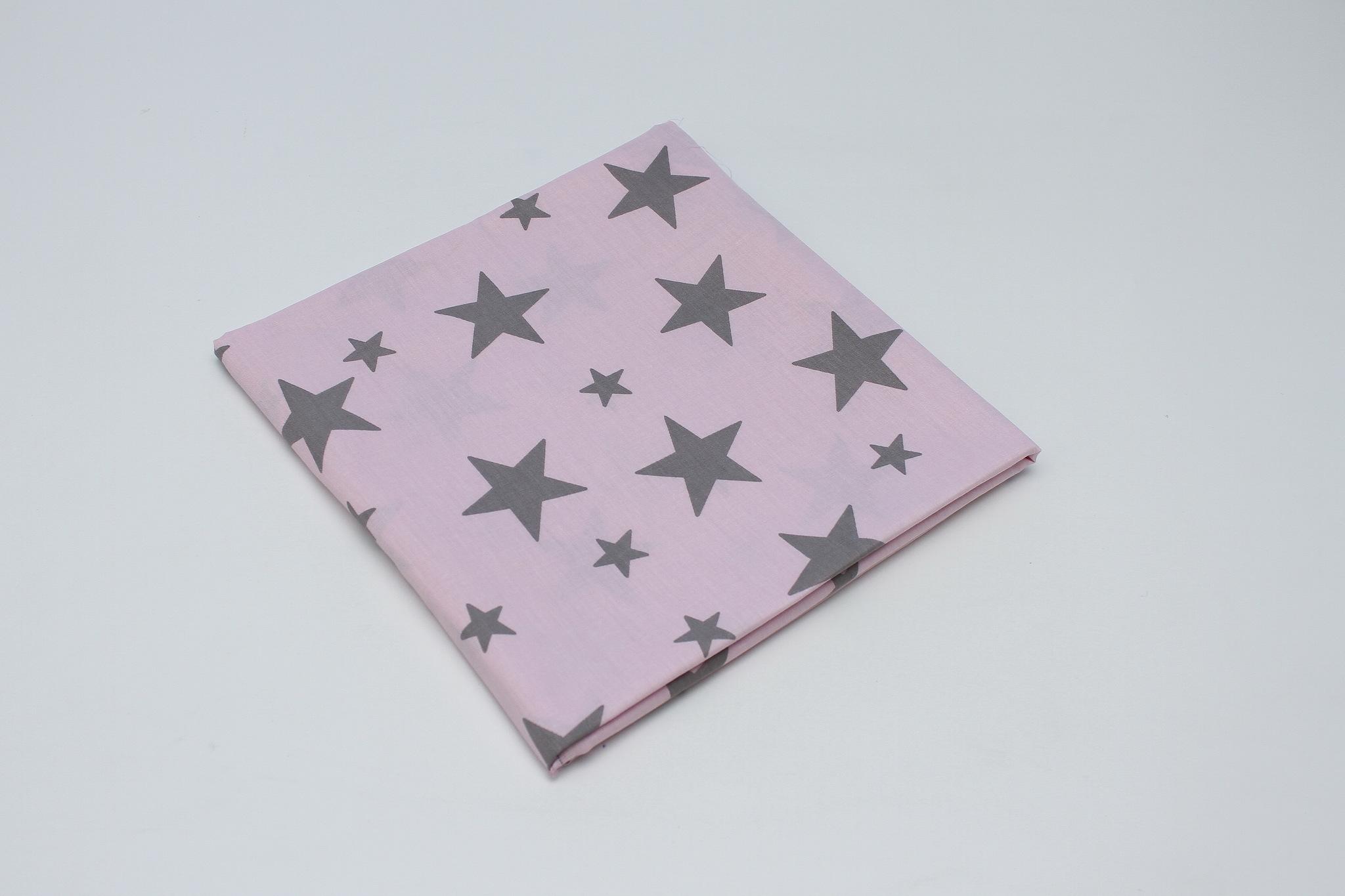 Звезды серые на розовом