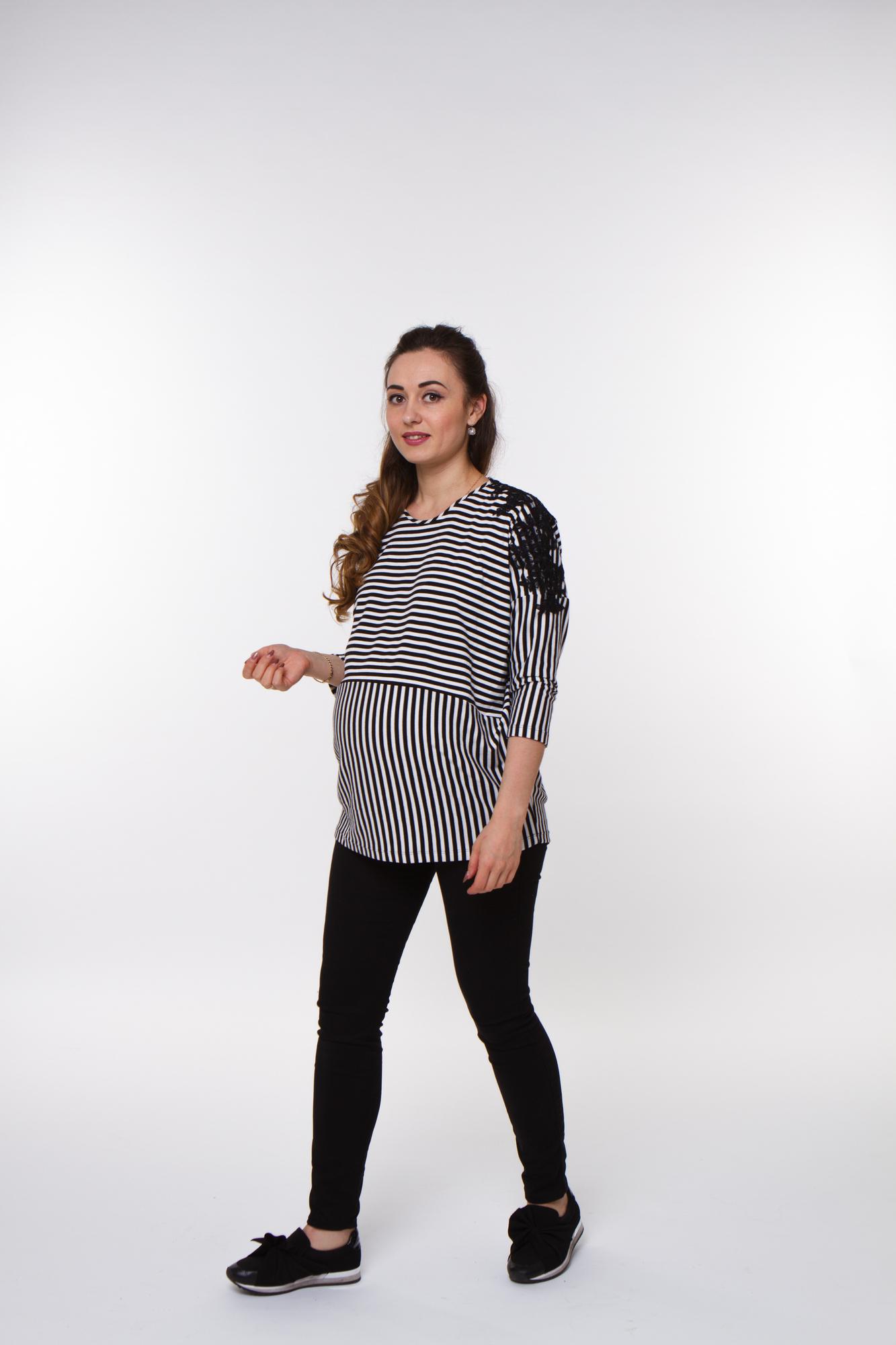 Блузка для беременных 09841 черный