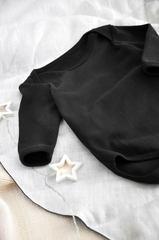 Бодик чёрный с длиным рукавом