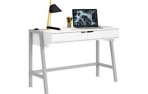 Стол письменный Polini kids Mirum 1440 низкий, белый-серый