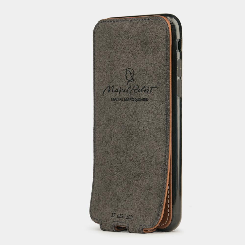 Чехол для iPhone 7 из натуральной кожи теленка, коричневого цвета