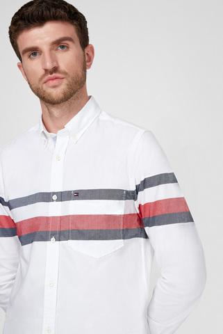 Мужская белая рубашка SLIM GLOBAL Tommy Hilfiger