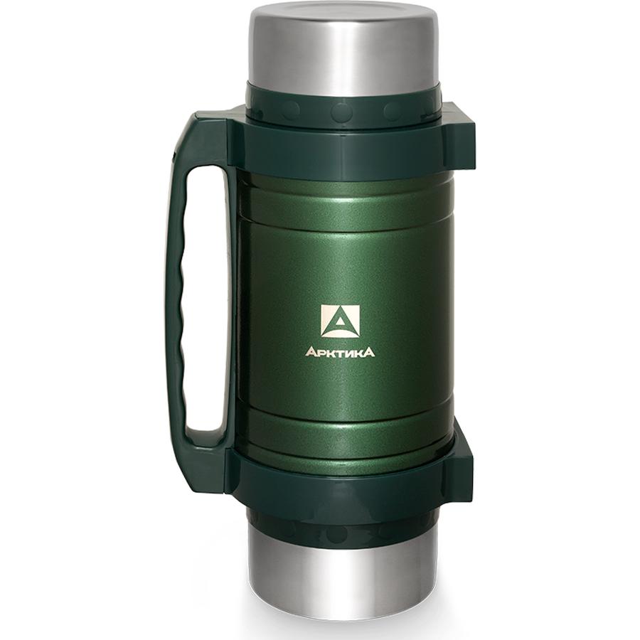 Термос универсальный Арктика 2,5 литра с супер-широким горлом зеленый