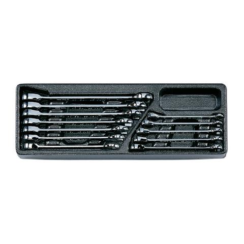 Набор комбинированных ключей с трещоткой Honidriver в ложементе, 12 предметов, HONITON IK-SGW0120H