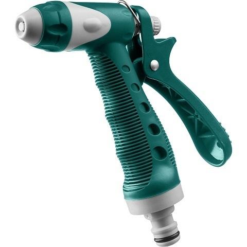 Пистолет поливочный пластиковый с TPR, плавная регулировка, курок сзади, RACO