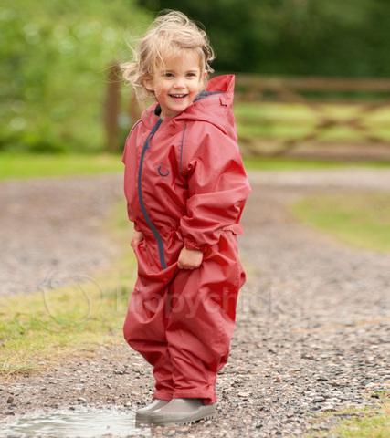 Непромокаемый комбинезон для детей красный