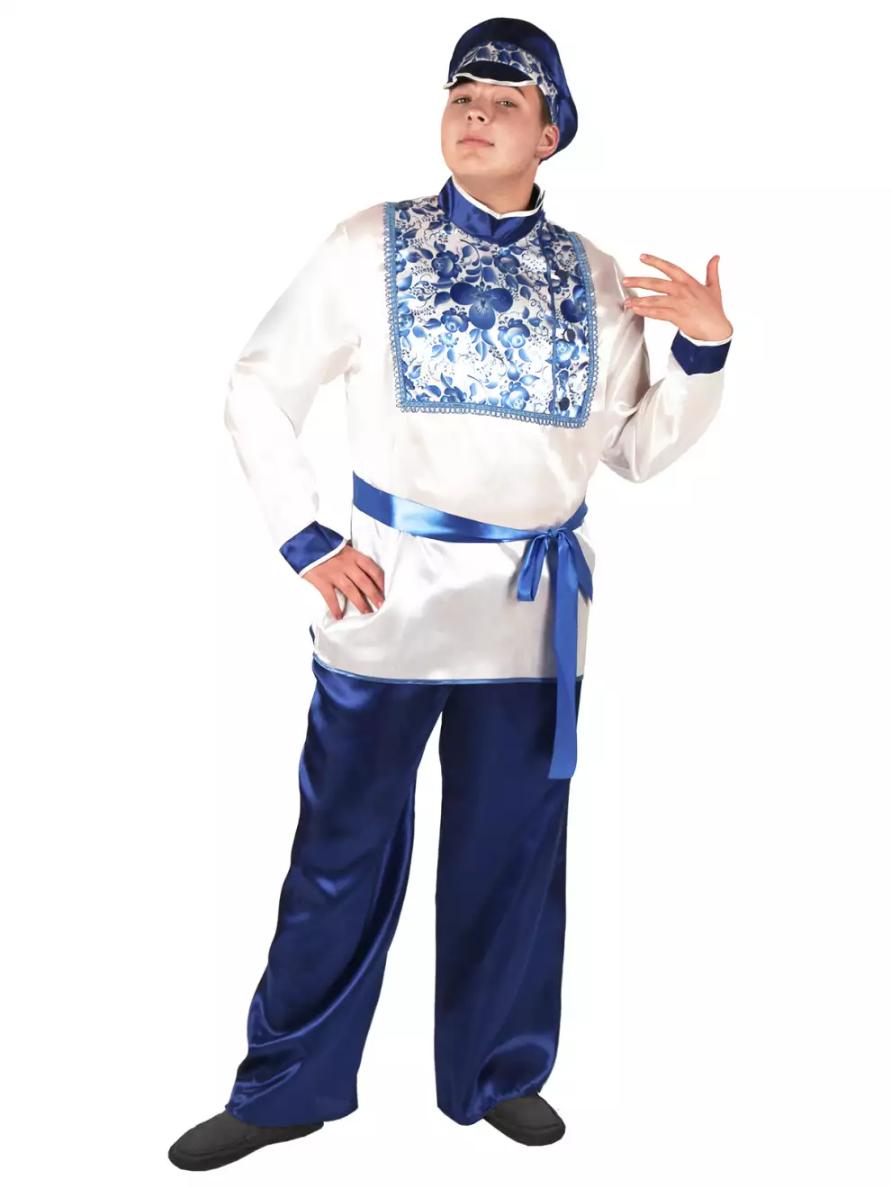 Карнавальный костюм Гжель мужской