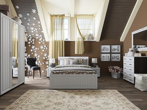 Спальня Прага-01 Браво Мебель венге, белый