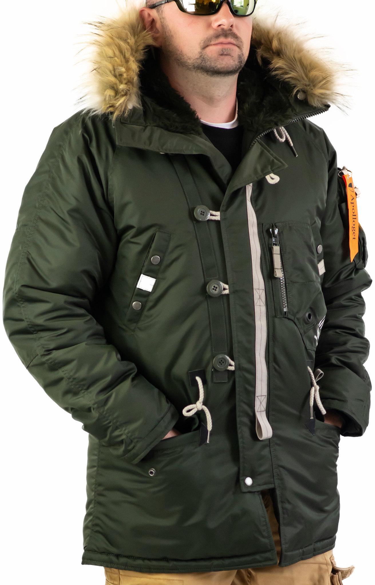Куртка Аляска  Apolloget Sapporo 2019 (т.зеленая - forest night)