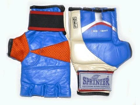 Перчатки для рукопашного боя (кожа). гель. Размер М.