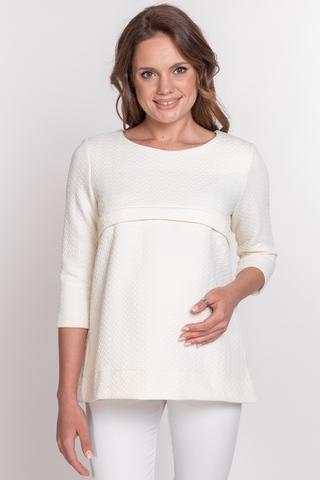 Джемпер для беременных и кормящих 10804 молочный