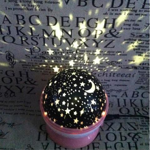 Ночник-проектор вращающийся Звездное небо Star Master (розовый)