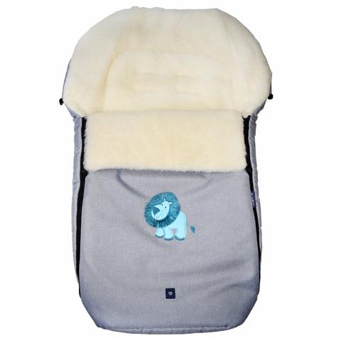 №S77 Exlusive Lion  melange fabric (светло-серый)