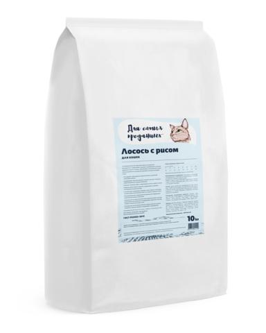 Для самых преданных™  корм для кошек Лосось с рисом, 10кг