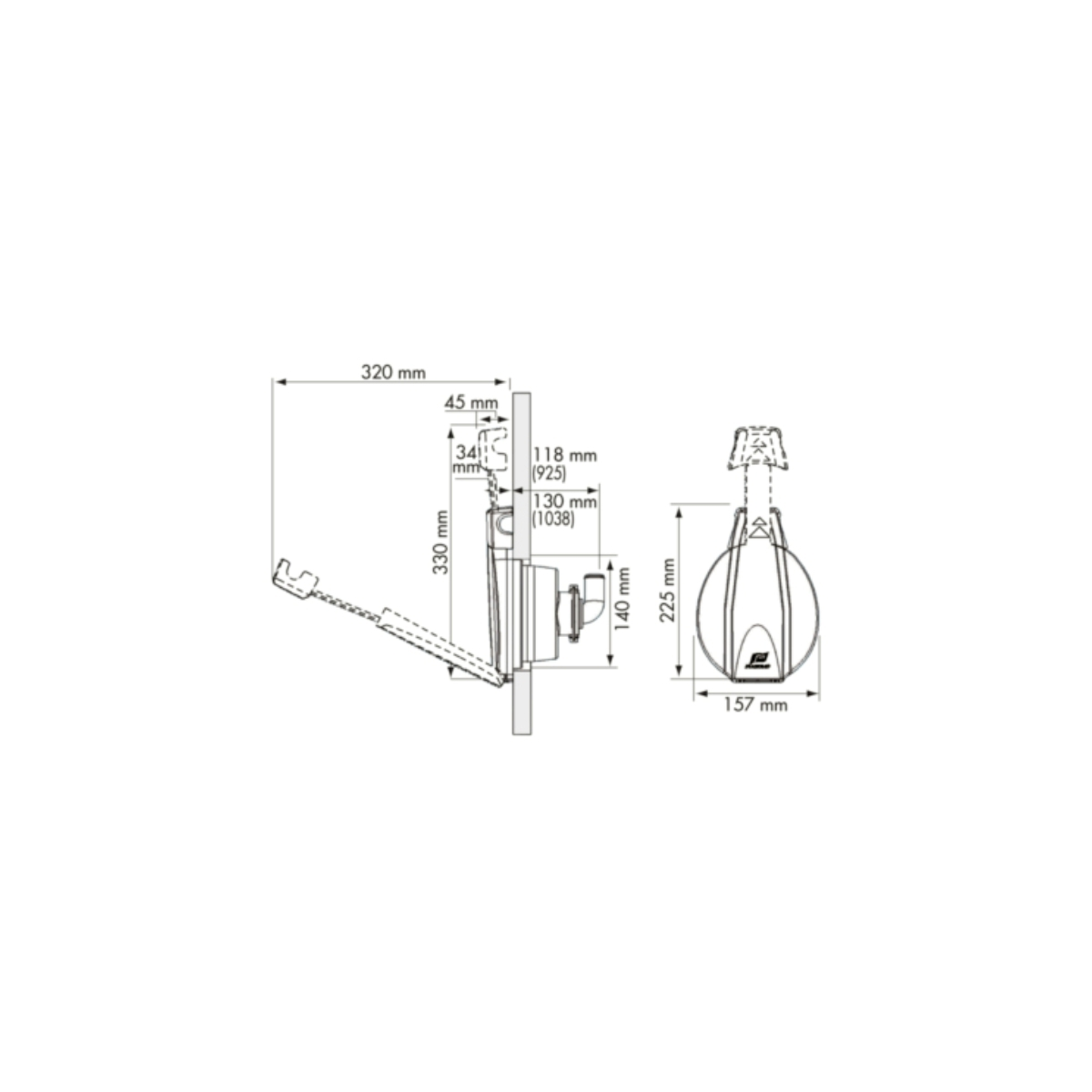 PUMP 925 AND 1038 : WITH TELESCOPIC HANDLE