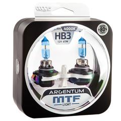 Галогеновые лампы MTF Light ARGENTUM +50% HB4 9006