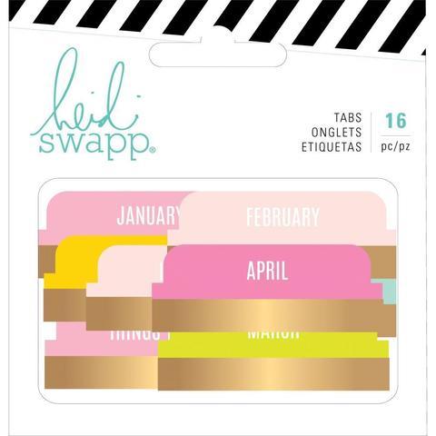 Закладки-табы. Heidi Swapp Memory Planner Tabs -Color Fresh -16 шт.