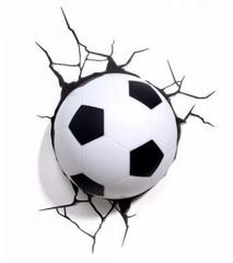 Спорт 3D светильник Футбольный мяч