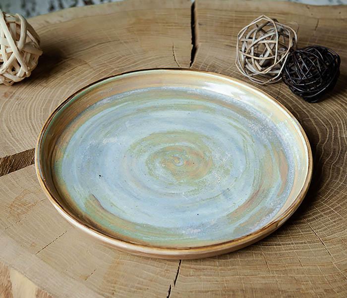 PLATE101 Керамический поднос ручной работы в глазури