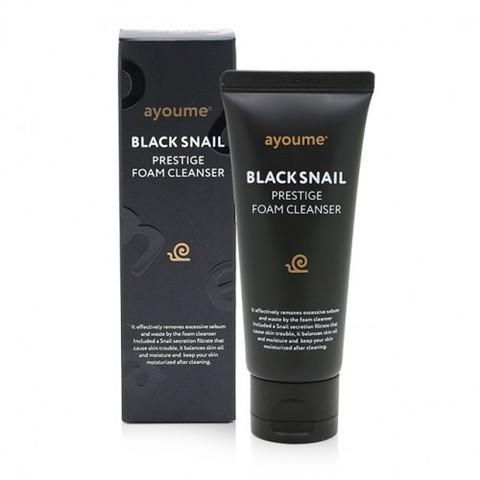 Пенка для умывания с муцином черной улитки AYOUME BLACK SNAIL PRESTIGE FOAM CLEANSER 60ml