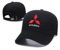 Модная бейсболка с вышивкой Мицубиси (Кепка Mitsubishi) черная