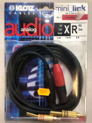 KLOTZ AL1,5FC - Соединительный аудио кабель IY106