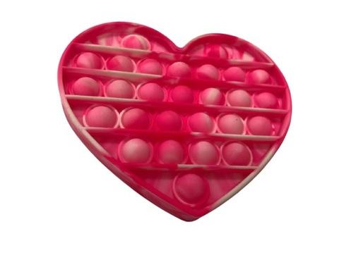Антистресс игрушка Pop It, сердце, разноцветный