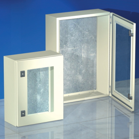 Навесной шкаф CE, с прозрачной дверью, 600 x 600 x 250мм, IP55