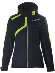 Утеплённая прогулочная лыжная куртка Nordski Premium Black-lime женская
